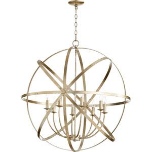 Celeste Aged Silver Leaf 33-Inch Eight-Light Globe Pendant