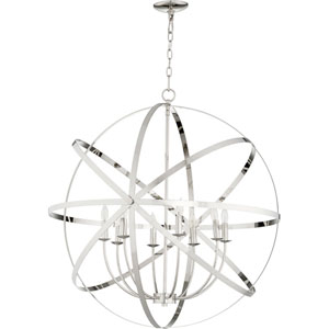 Celeste Polished Nickel Eight-Light 33-Inch Pendant