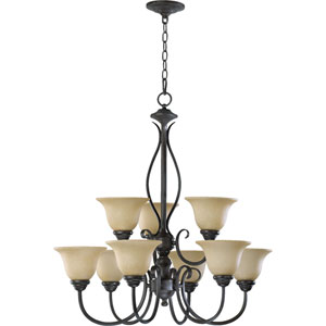Spencer Nine-Light Toasted Sienna Chandelier
