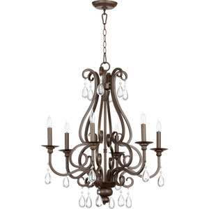 Anders Oiled Bronze 29-Inch Six Light Chandelier