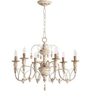 Salento Persian White 25-Inch Six-Light Chandelier