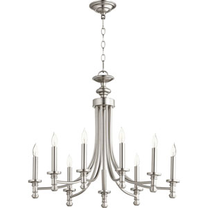 Rossington Satin Nickel Nine-Light 27-Inch Chandelier