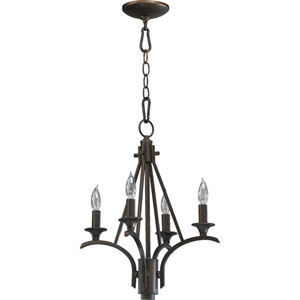Winslet Four-Light Oiled Bronze Chandelier