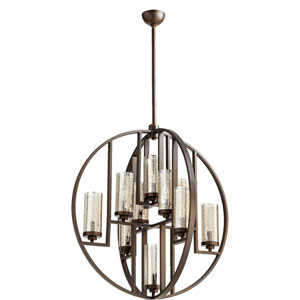Julian Oiled Bronze 32-Inch Ten-Light Pendant