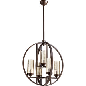 Julian Oiled Bronze 24-Inch Five-Light Pendant