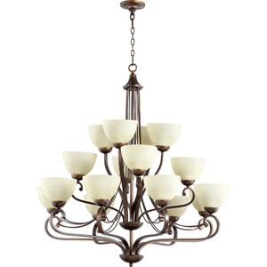 Lariat Oiled Bronze 41-Inch 16-Light Chandelier