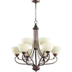 Lariat Oiled Bronze 30.5-Inch Nine-Light Chandelier