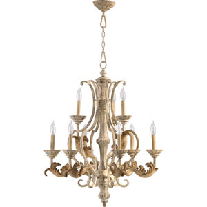 Florence Persian White Nine-Light Chandelier