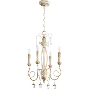 Venice Persian White 17-Inch Four-Light Chandelier