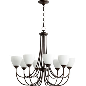 Brooks Oiled Bronze 32-Inch Eight-Light Chandelier