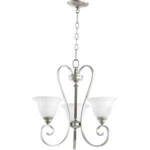 Celesta Classic Nickel 20.5-Inch Three Light Chandelier