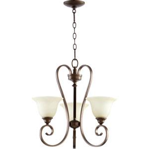 Celesta Oiled Bronze 20.5-Inch Three Light Chandelier