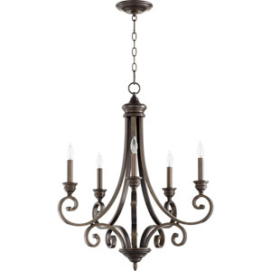 Bryant Oiled Bronze Five-Light Chandelier