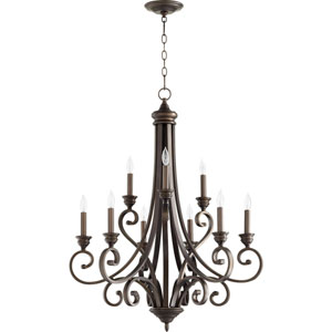 Bryant Oiled Bronze Nine-Light Chandelier