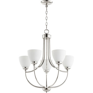 Enclave Polished Nickel Five-Light 24-Inch Chandelier