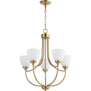 Enclave Aged Brass Five-Light 24-Inch Chandelier