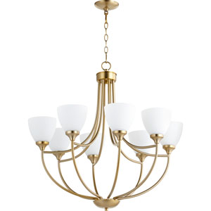 Enclave Aged Brass Eight-Light 30-Inch Chandelier