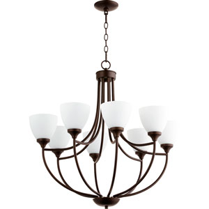 Enclave Oiled Bronze Eight-Light 30-Inch Chandelier