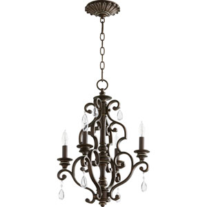 San Miguel Vintage Copper 16-Inch Four-Light Chandelier