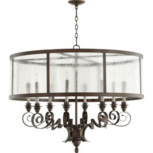 Champlain Vintage Copper 38-Inch Eight-Light Chandelier