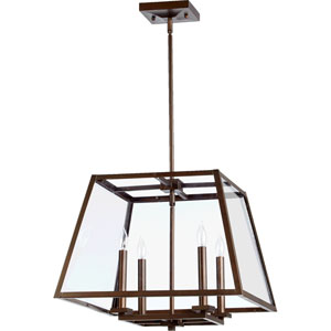 Kaufmann Oiled Bronze 19-Inch Four-Light Lantern Pendant
