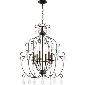Ariel Vintage Copper Six-Light 23.5-Inch Chandelier