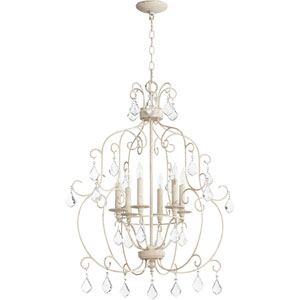Ariel Persian White Six-Light 24-Inch Cage Chandelier