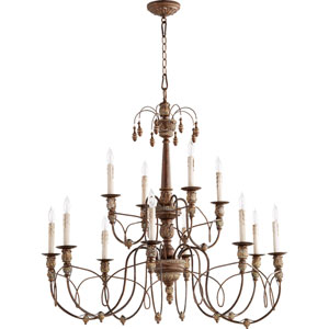 Salento Vintage Copper Twelve-Light 39-Inch Chandelier