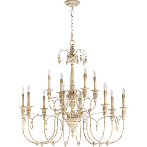 Salento Persian White Twelve-Light Chandelier