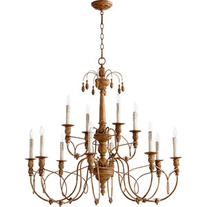 Salento French Umber 12 Light 37.25-Inch Chandelier