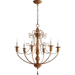 Salento French Umber 29.75-Inch Six Light Chandelier