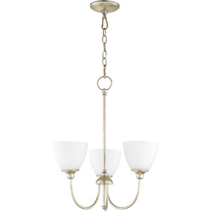Celeste Aged Silver Leaf Three-Light Chandelier