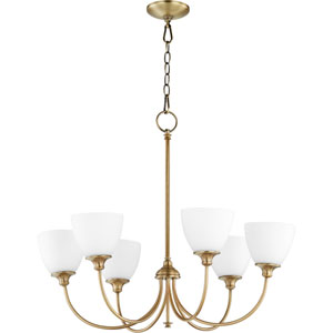 Celeste Aged Brass Six-Light Chandelier