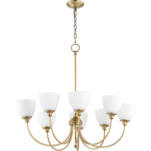 Celeste Aged Brass Eight-Light Chandelier