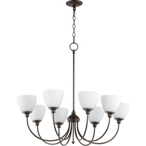 Celeste Oiled Bronze Eight-Light Chandelier