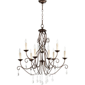 Cilia Oiled Bronze 32-Inch Nine-Light Chandelier
