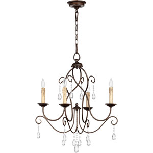 Cilia Oiled Bronze 25.5-Inch Four Light Chandelier