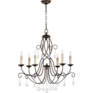 Cilia Oiled Bronze 30-Inch Six Light Chandelier