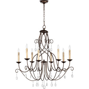 Cilia Oiled Bronze 32-Inch Eight Light Chandelier