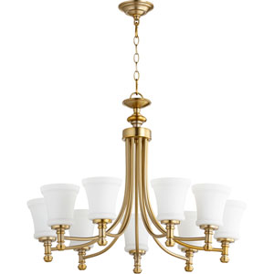 Rossington Aged Brass Nine-Light 31-Inch Chandelier