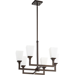 Wright Oiled Bronze Six-Light 24-Inch Chandelier