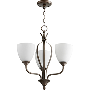 Jardin Oiled Bronze Three-Light 20-Inch Chandelier