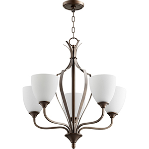 Jardin Oiled Bronze Five-Light 30-Inch Chandelier