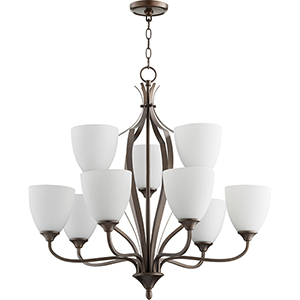 Jardin Oiled Bronze Nine-Light 30-Inch Chandelier