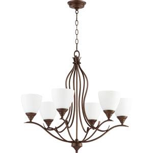 Flora Oiled Bronze Six-Light 29-Inch Chandelier