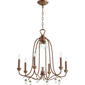 Venice Vintage Copper 24.5-Inch Six-Light Chandelier