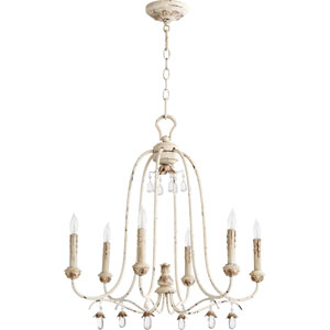 Venice Persian White 24.5-Inch Six-Light Chandelier
