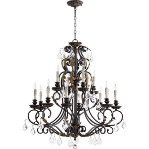 Rio Salado Toasted Sienna With Mystic Silver Twelve-Light Chandelier