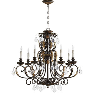 Rio Salado Toasted Sienna With Mystic Silver Eight-Light Chandelier