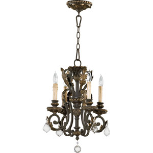 Rio Salado Four-Light Toasted Sienna with Mystic Silver Chandelier